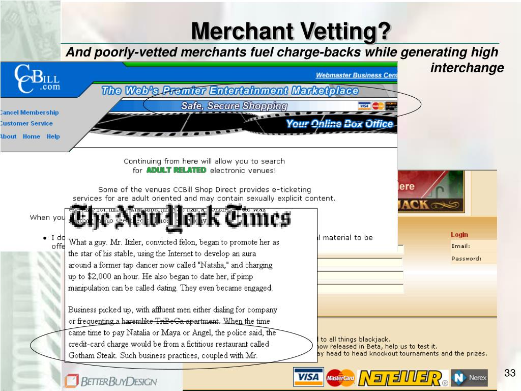 Merchant Vetting?
