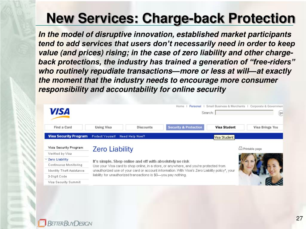 New Services: Charge-back Protection