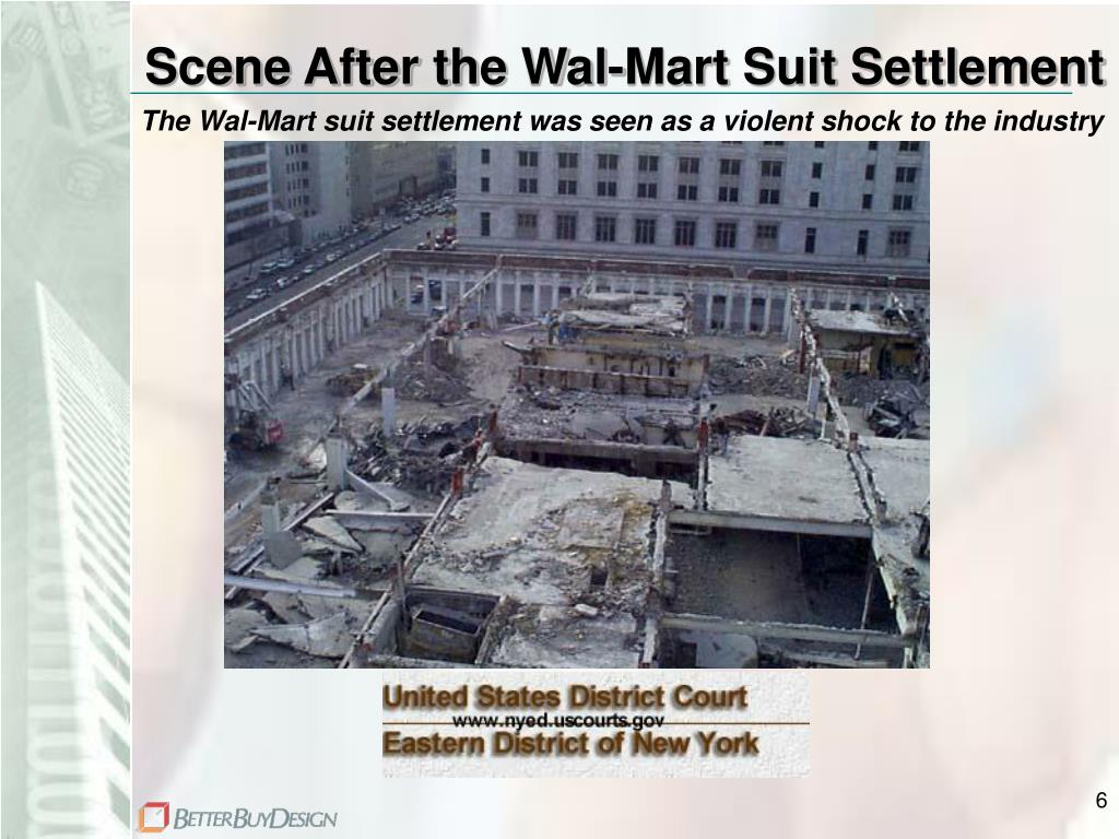 Scene After the Wal-Mart Suit Settlement