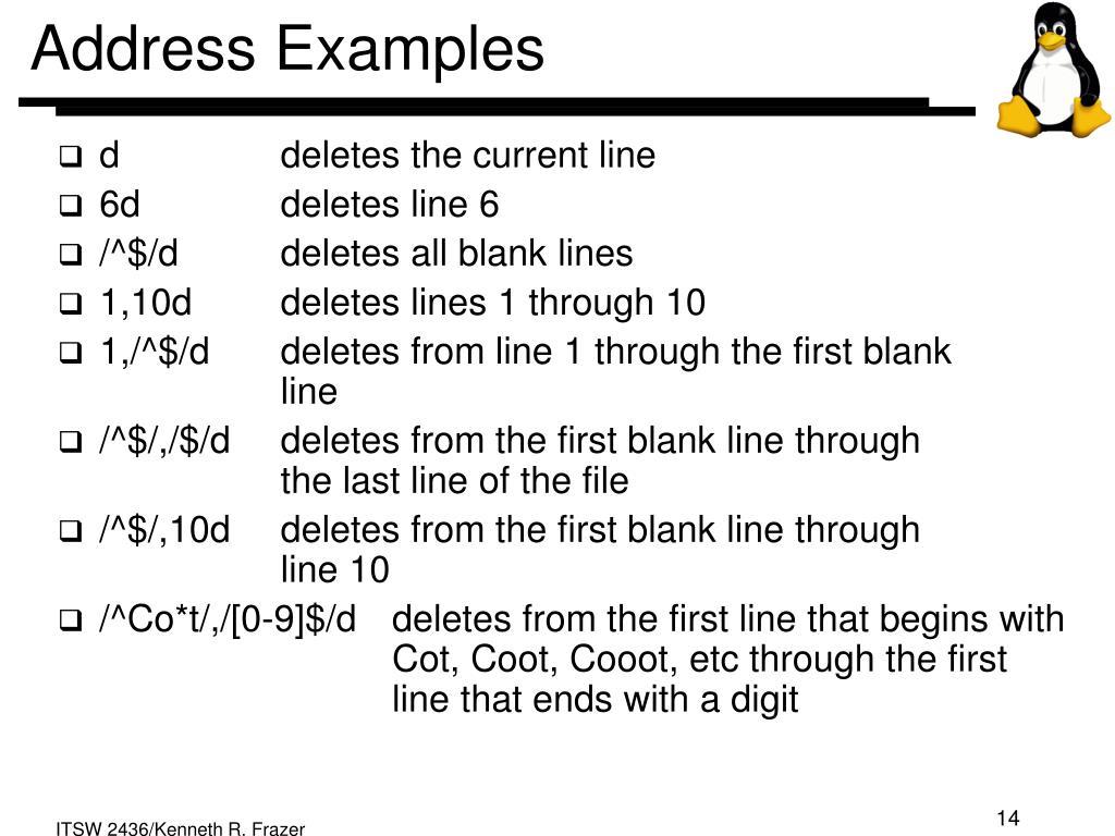 Address Examples