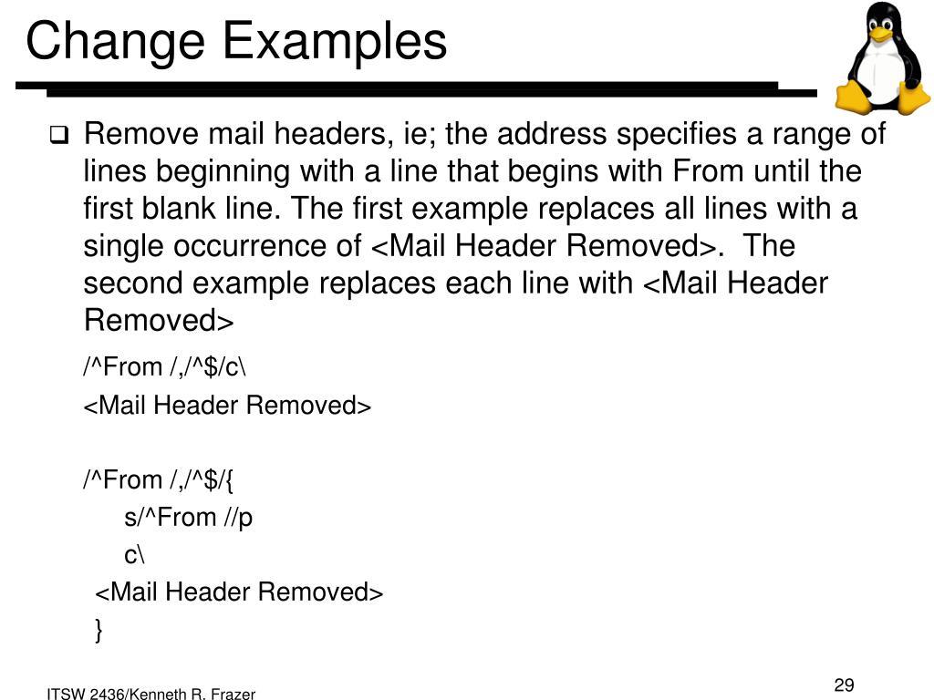 Change Examples