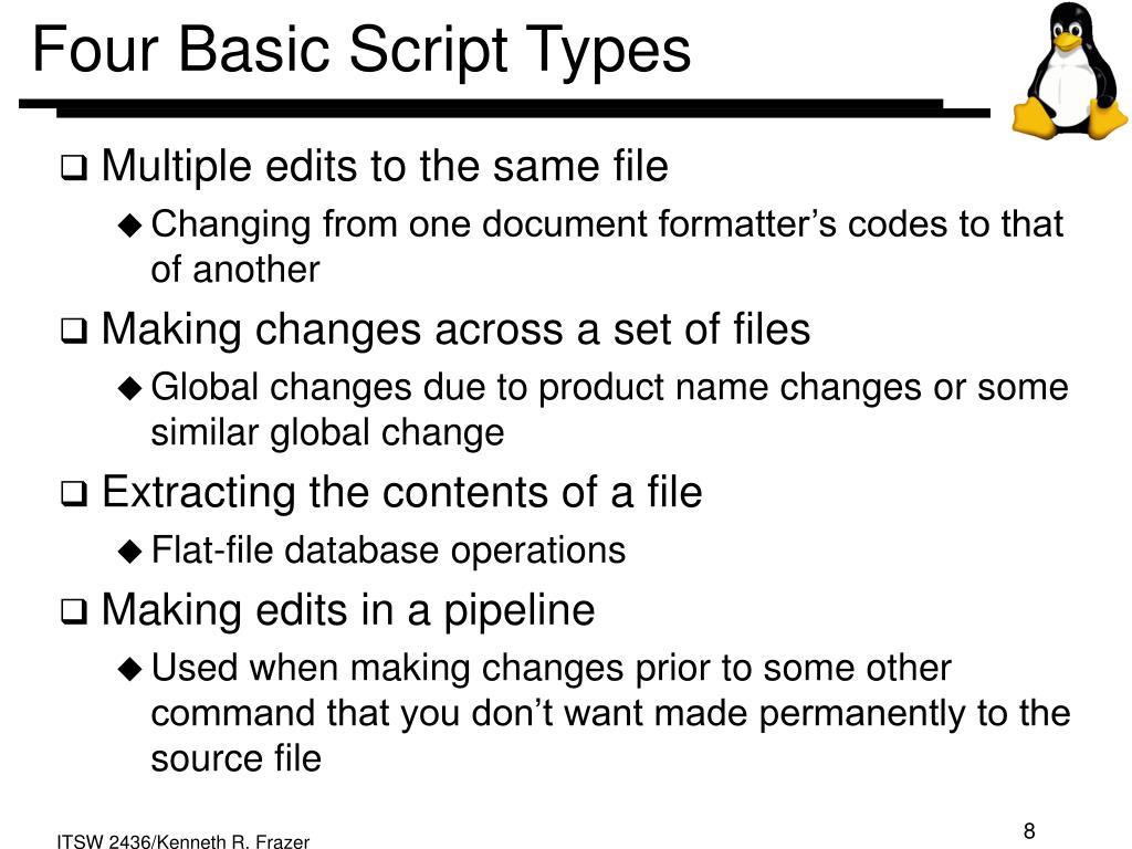 Four Basic Script Types