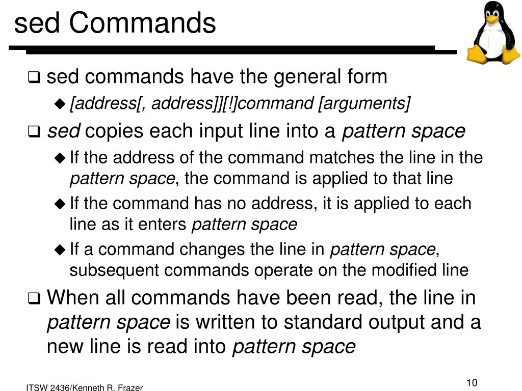 sed Commands