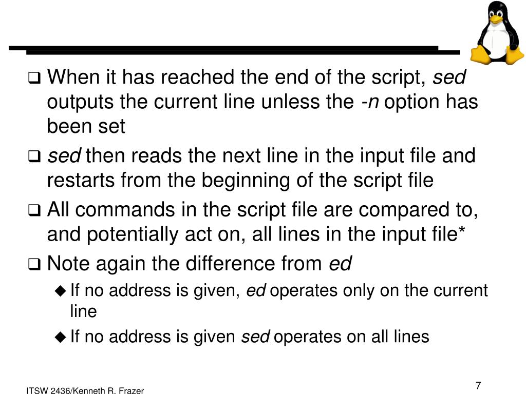 When it has reached the end of the script,