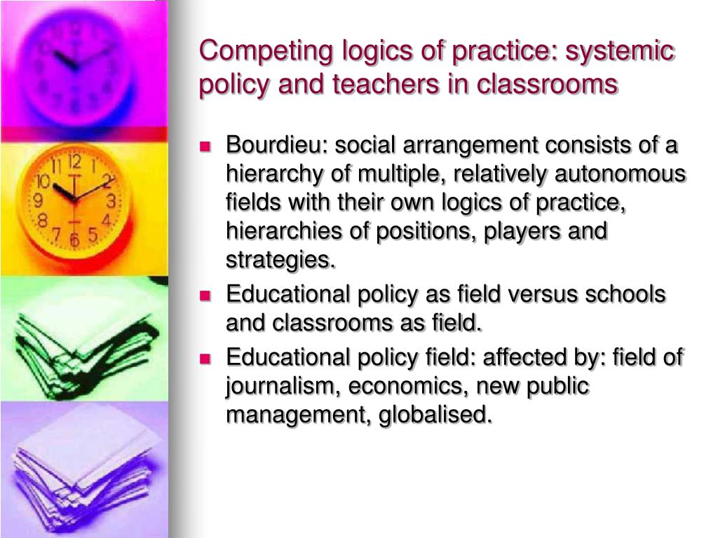 Competing logics of practice: systemic policy and teachers in classrooms