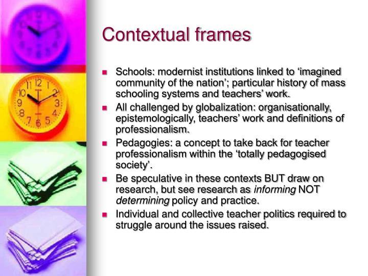 Contextual frames