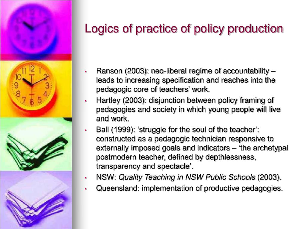 Logics of practice of policy production