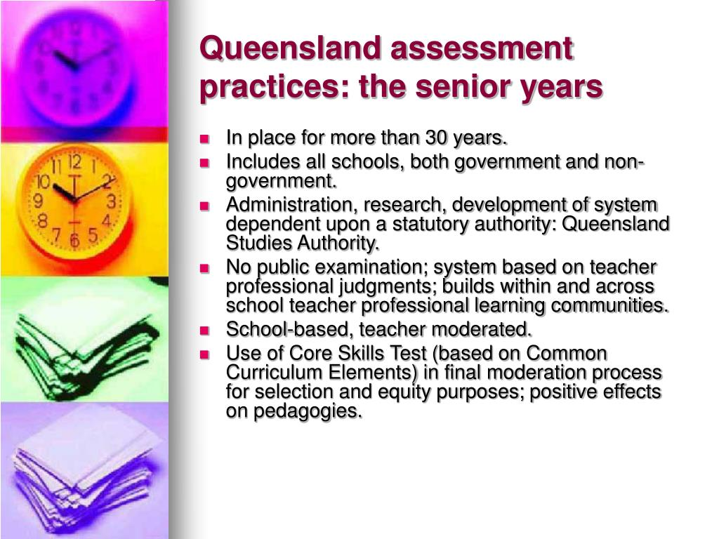 Queensland assessment practices: the senior years