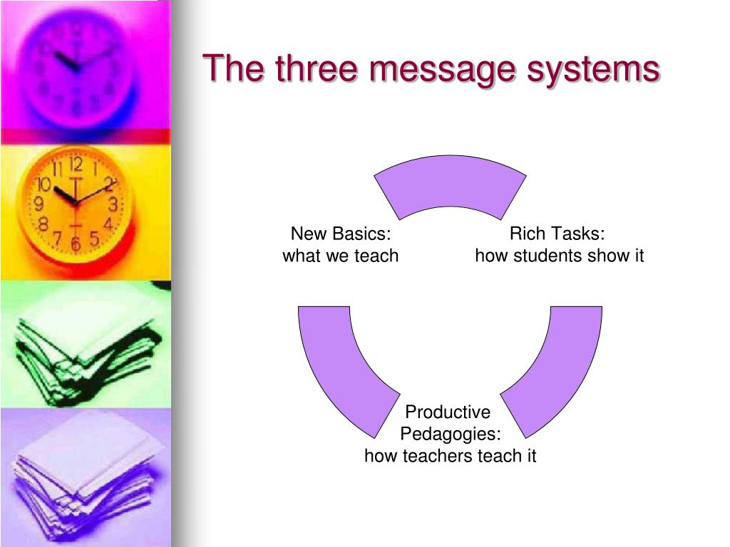 The three message systems