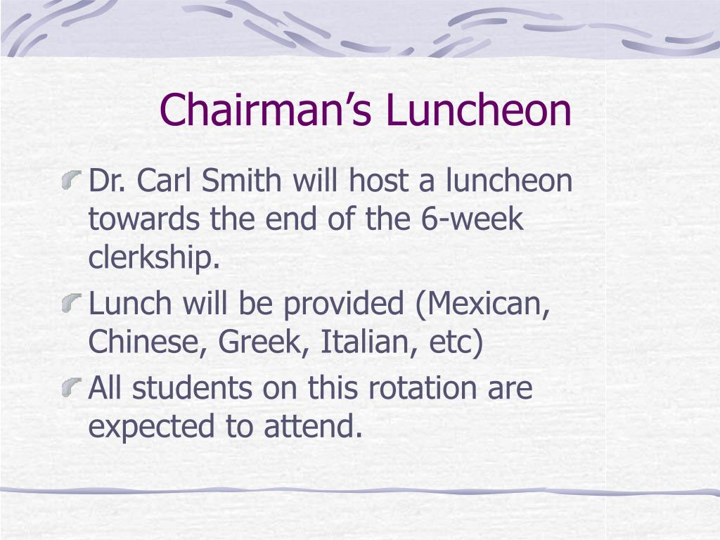 Chairman's Luncheon