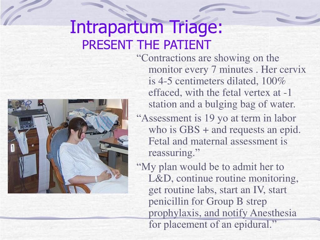 Intrapartum Triage: