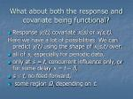 what about both the response and covariate being functional