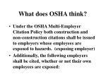 what does osha think
