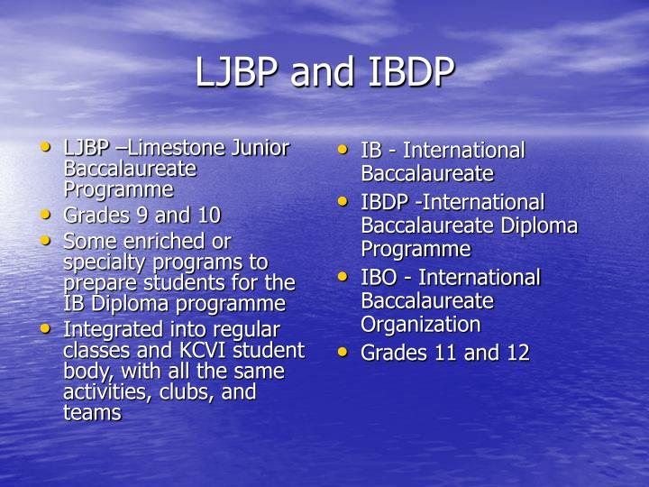 Ljbp and ibdp