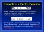 example of a redox reaction