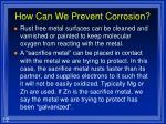 how can we prevent corrosion