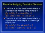 rules for assigning oxidation numbers16