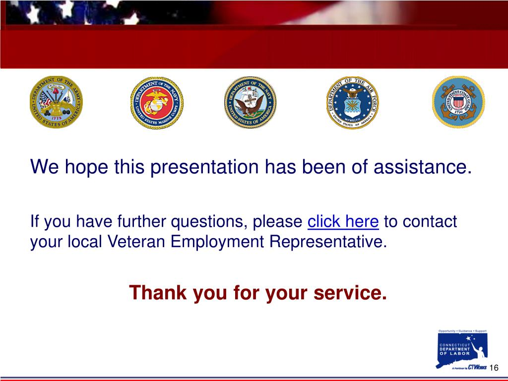We hope this presentation has been of assistance.
