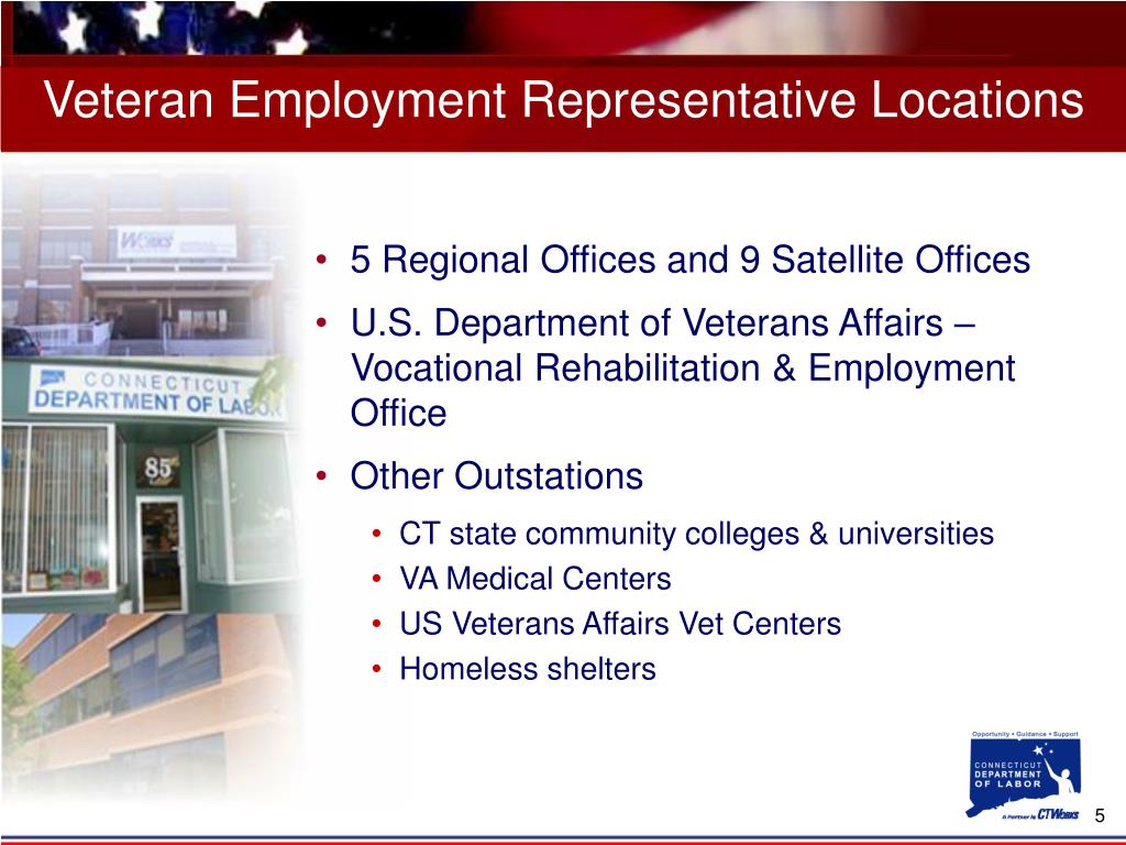 Veteran Employment Representative Locations