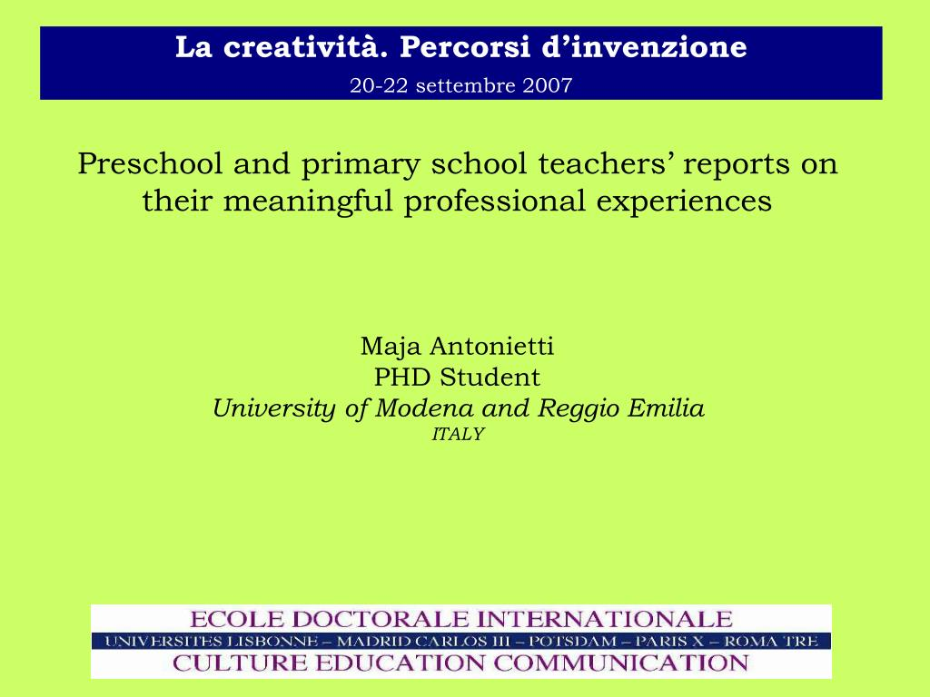 Preschool and primary school teachers' reports on their meaningful professional experiences