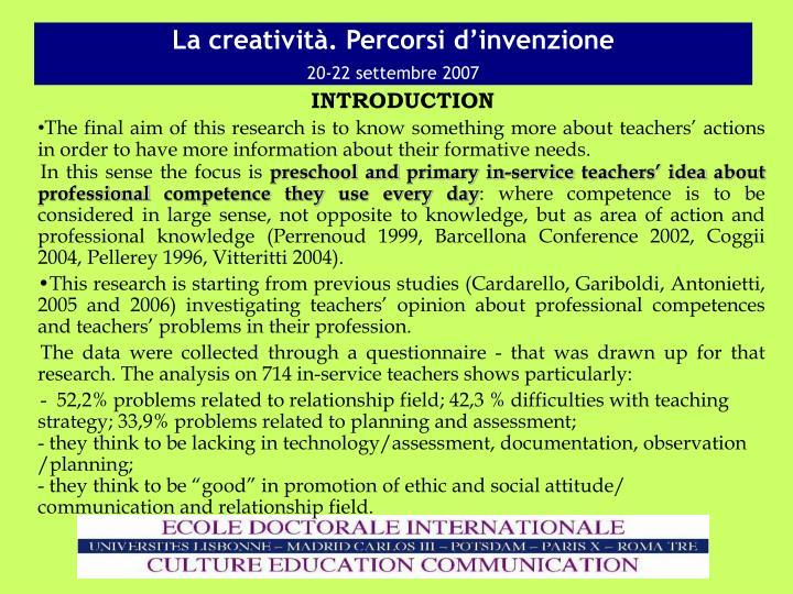La creativit percorsi d invenzione 20 22 settembre 20072