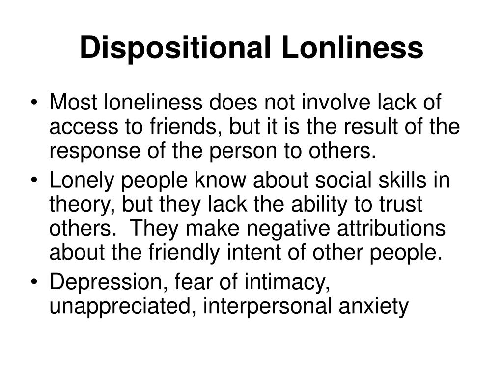 Dispositional Lonliness
