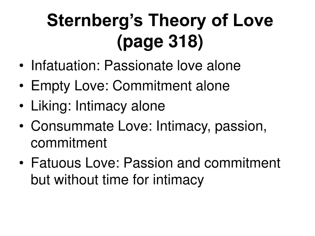 Sternberg's Theory of Love
