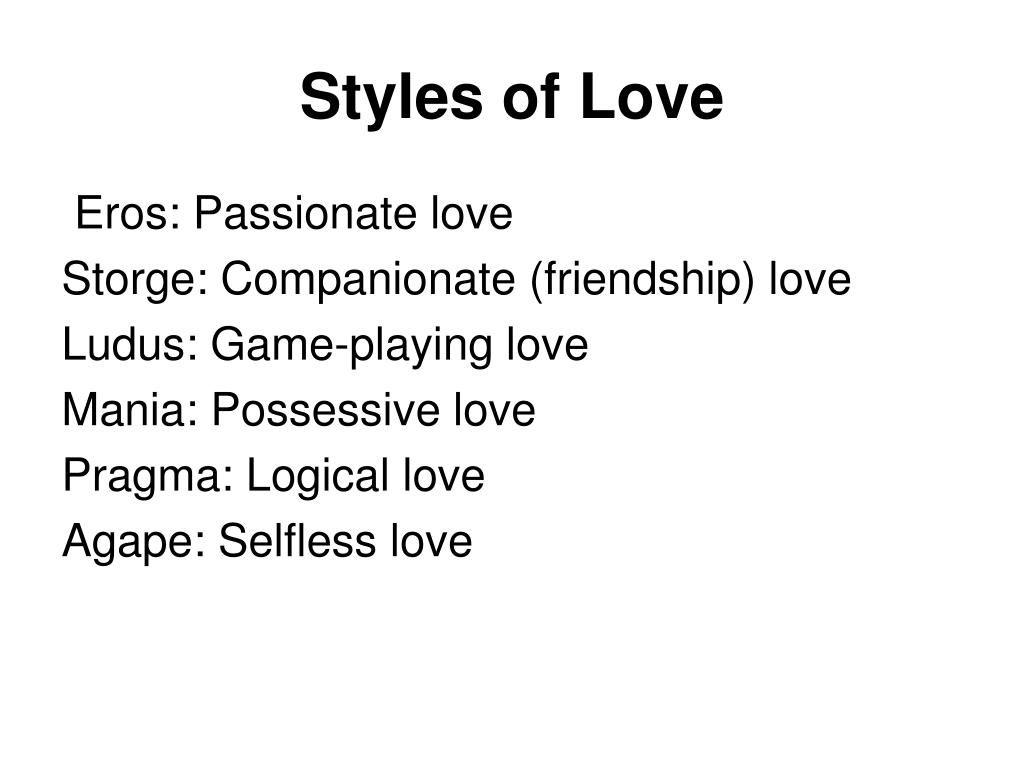Styles of Love