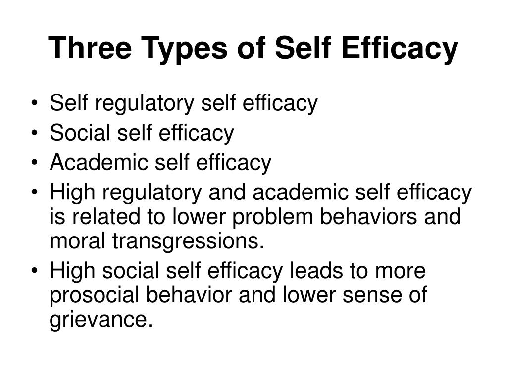 Three Types of Self Efficacy