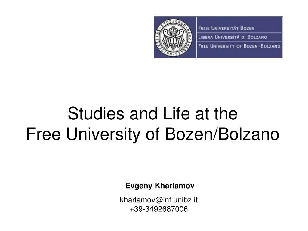 studies and life at the free university of bozen bolzano l.