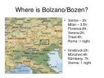 where is bolzano bozen