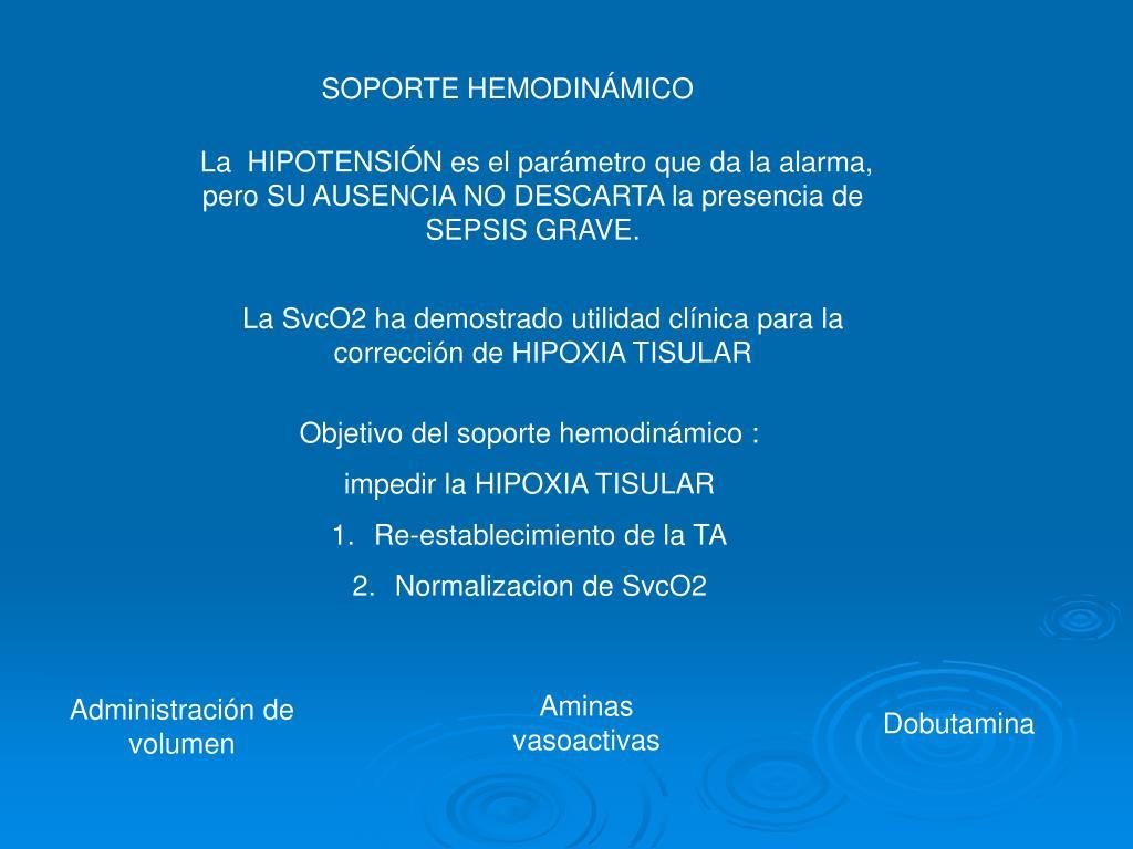 SOPORTE HEMODINÁMICO