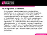 our diploma statement