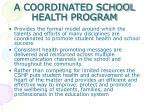 a coordinated school health program