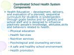 coordinated school health system components