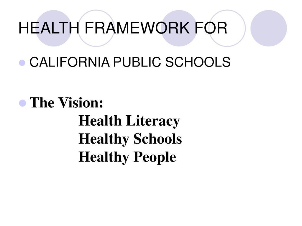 health framework for