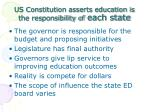 us constitution asserts education is the responsibility of each state