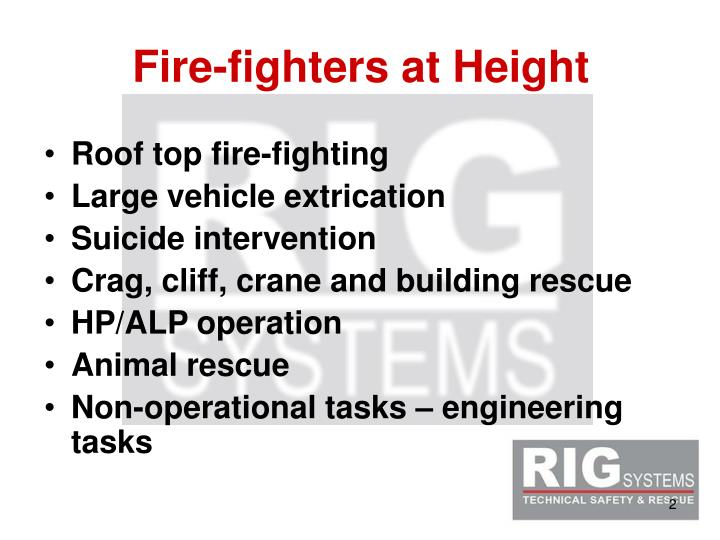Fire fighters at height