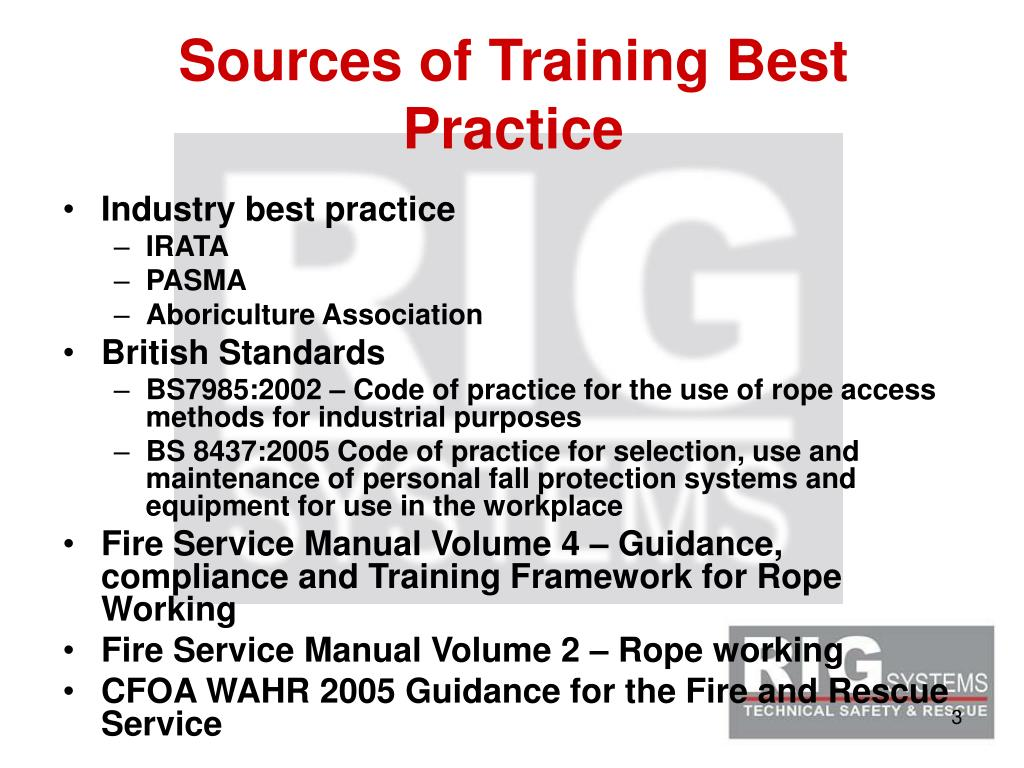 Sources of Training Best Practice