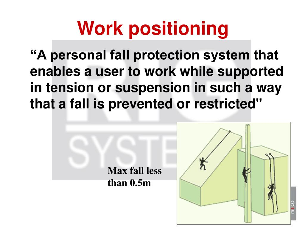 Work positioning