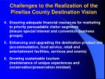 challenges to the realization of the pinellas county destination vision15