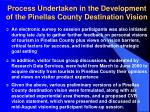 process undertaken in the development of the pinellas county destination vision6