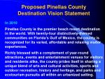 proposed pinellas county destination vision statement