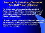 proposed st petersburg clearwater area cvb vision statement