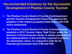 recommended initiatives for the successful development of pinellas county tourism