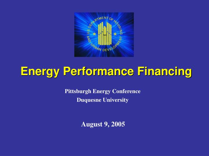 Energy performance financing