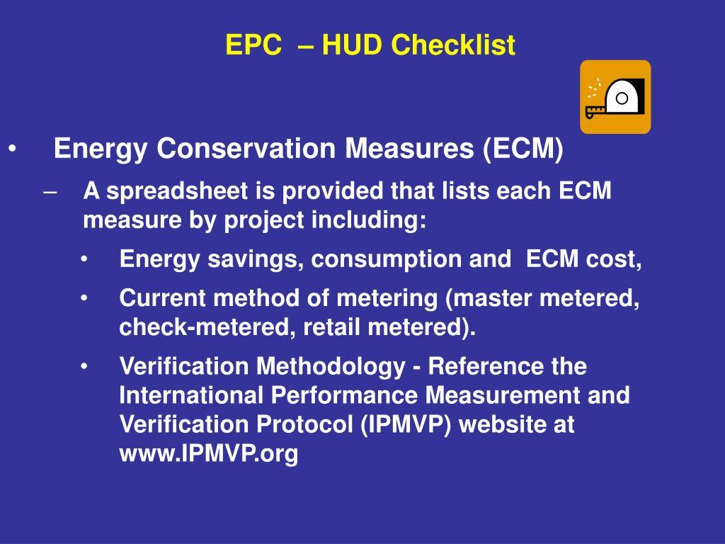 Energy Conservation Measures (ECM)
