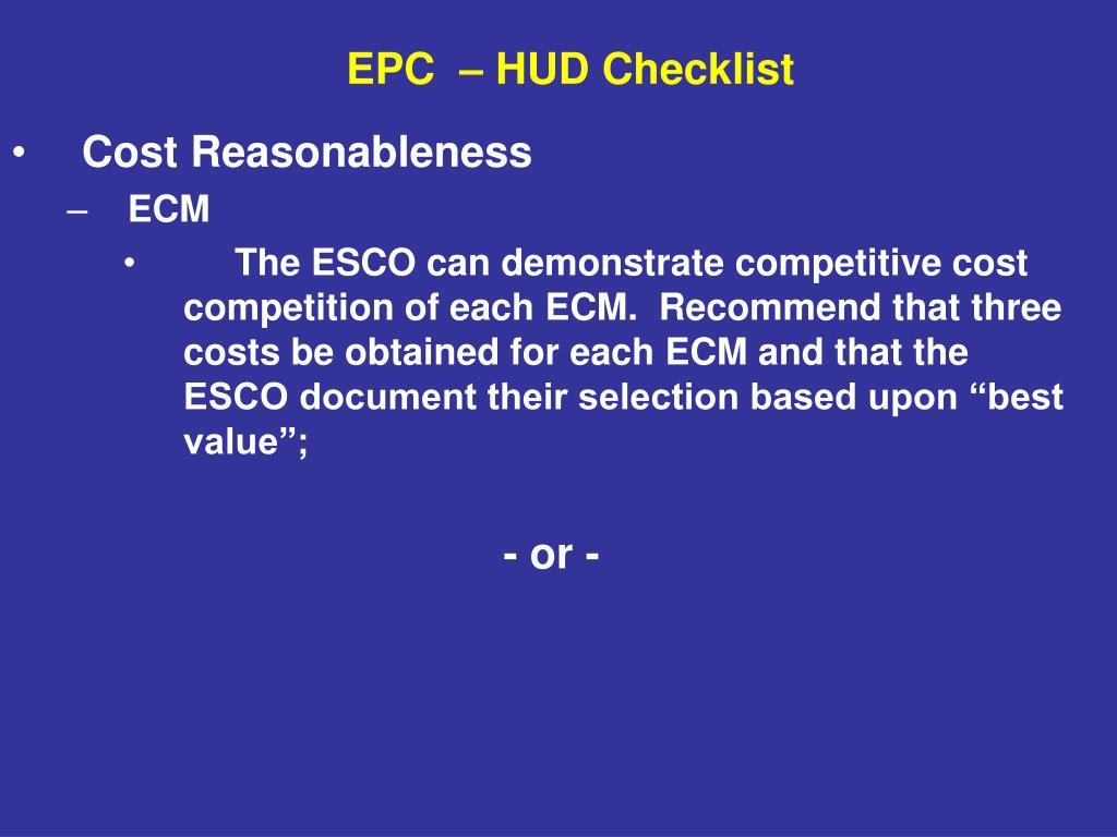 Cost Reasonableness