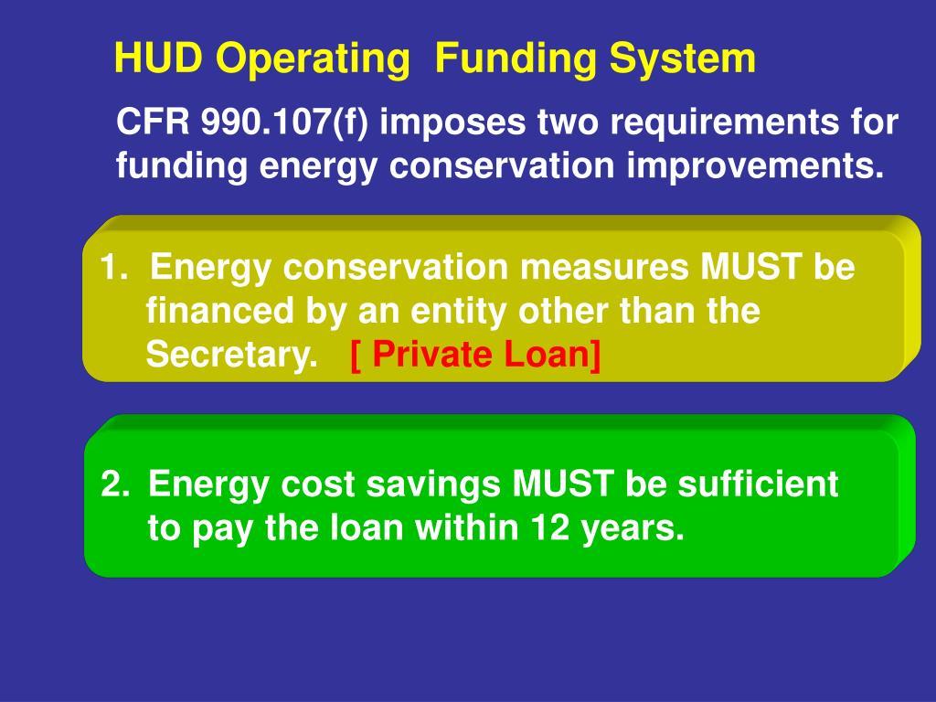 HUD Operating  Funding System