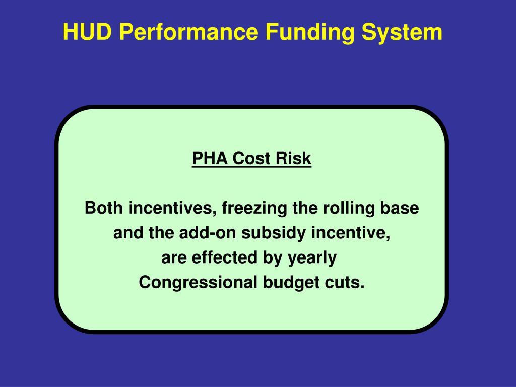 HUD Performance Funding System